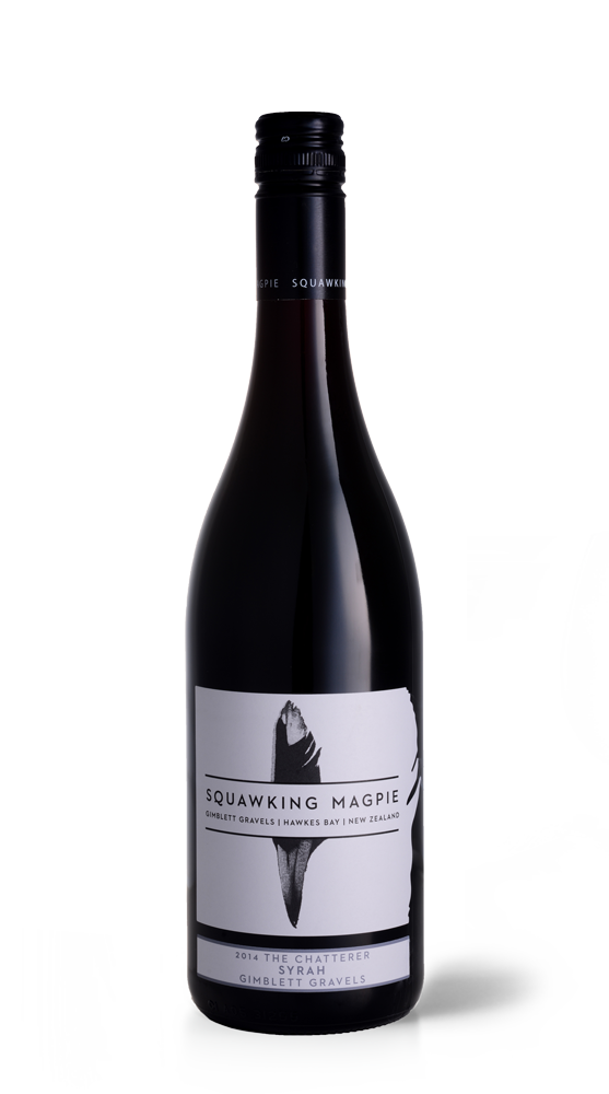 The Chatterer Syrah | Hawke's Bay Wine | Gimblett Gravels | Squawking Magpie